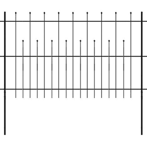 Clôture de palissade de sécurité décorative Acier 600 x 120 cm