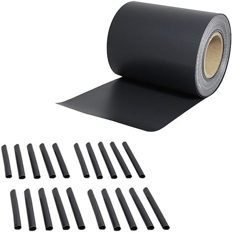 Clôture en PVC 35M film d'aluminium anthracite moustiquaire d'intimité à rouleau opaque à double baguette double tapis de clôture