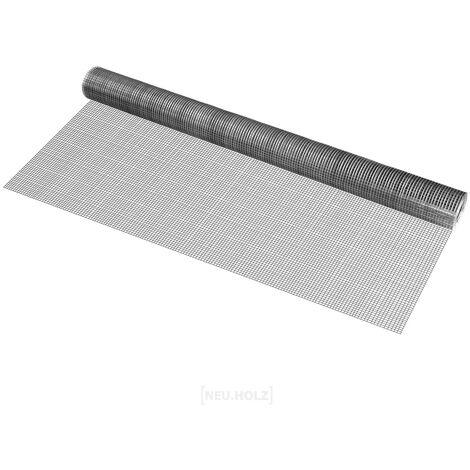 Clôture Grillage Fil de Fer Argent Gris 100cm x 5m
