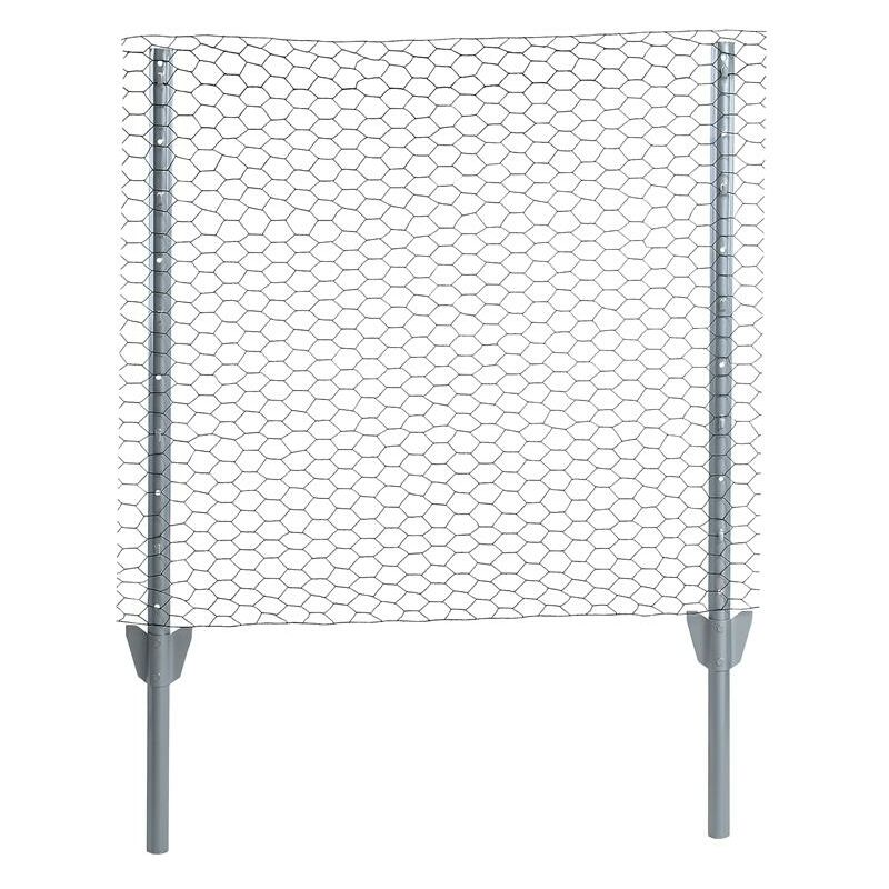 Clôture grillagée hexagonale 0,75 x 10 m Ensemble complet 25 mm