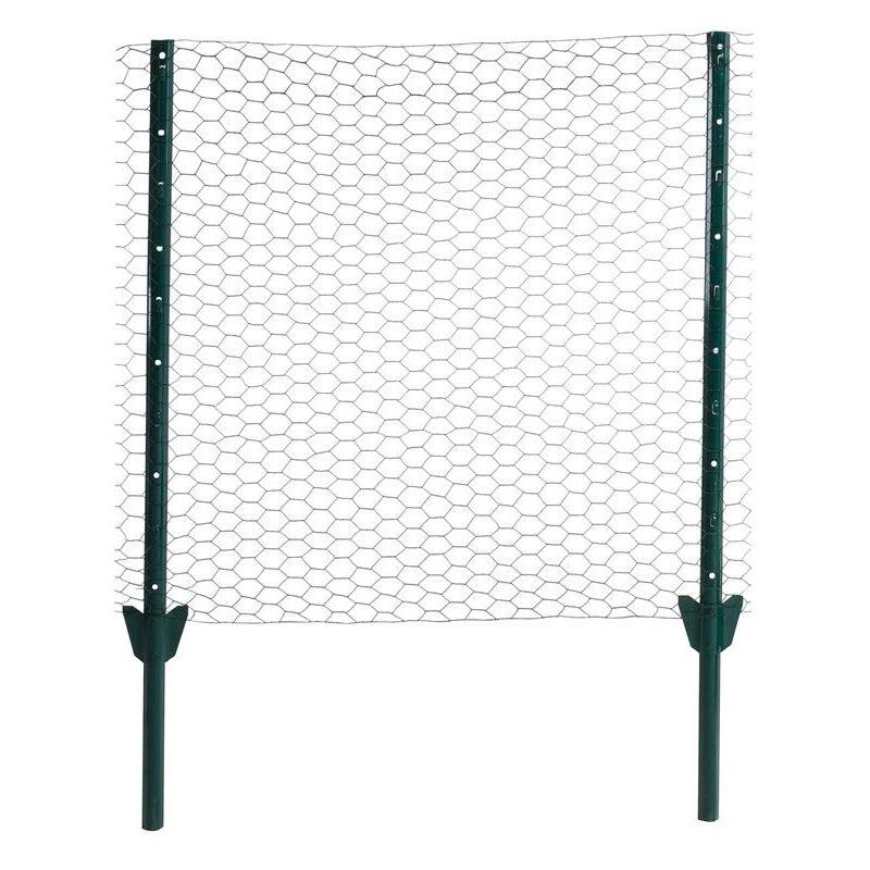 Clôture grillagée hexagonale fil de clôture 1,50 x 10 m Kit complet clôture 25mm