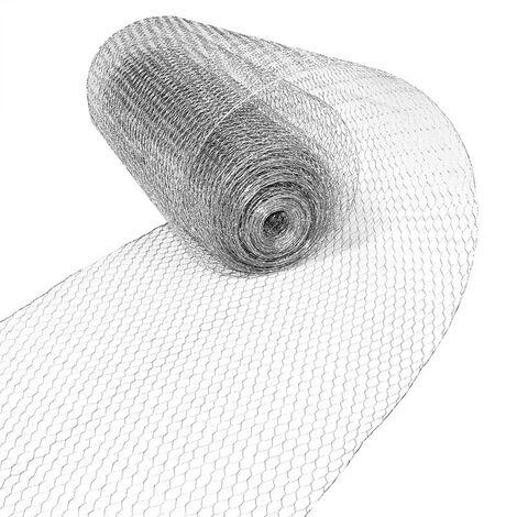 Clôture hexagonale de fil de volière de maille 0,75 x 25 m, galvanisée