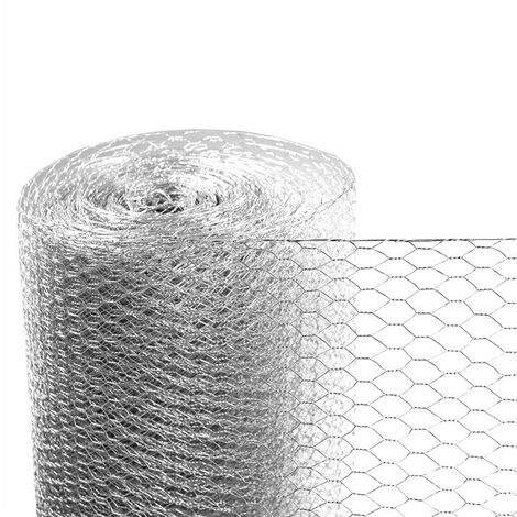Clôture hexagonale de fil de volière de maille 1,00 x 10 m, galvanisée
