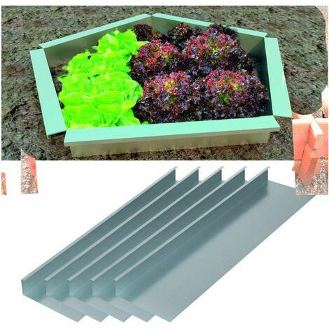 Clôture métallique modulaire anti-limaces