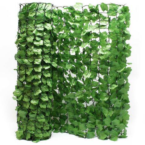 Clôture pare-vue Feuillage 300cm x 100cm Habillage de mur Brise-vue Bâche Grillage