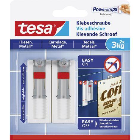 Clou adhésif ajustable tesa® tesa 77765-00000-00 blanc 2 pc(s) W680571