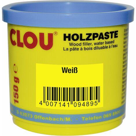 Clou Holzpaste 150 g, weiß