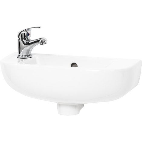 """main image of """"Cloud 450mm Slimline Basin with Left Hand 1 Tap Hole"""""""