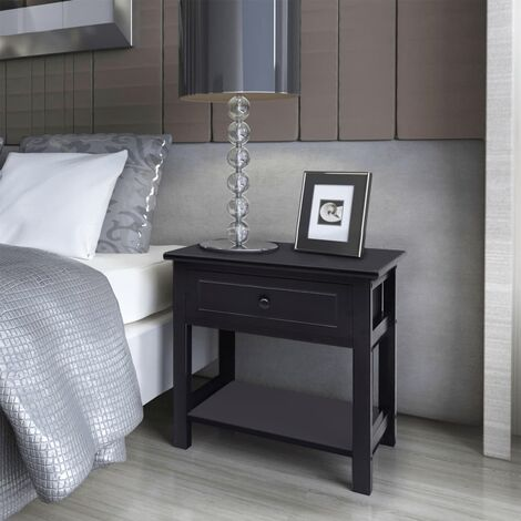 Clovis 1 Drawer Bedside Table by Brayden Studio - Black