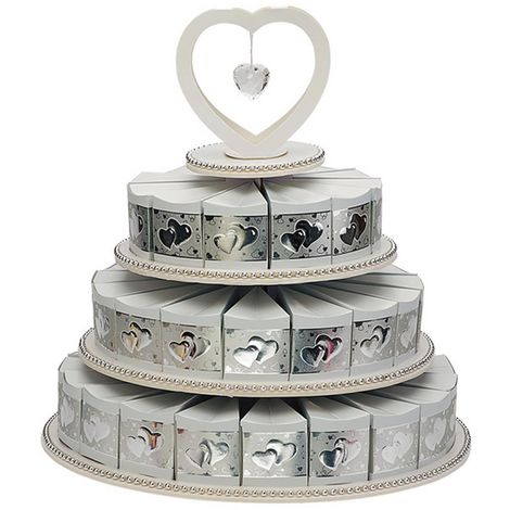 Club Green 3 Tier 48 Piece Paper Cake Box (One Size) (Silver)