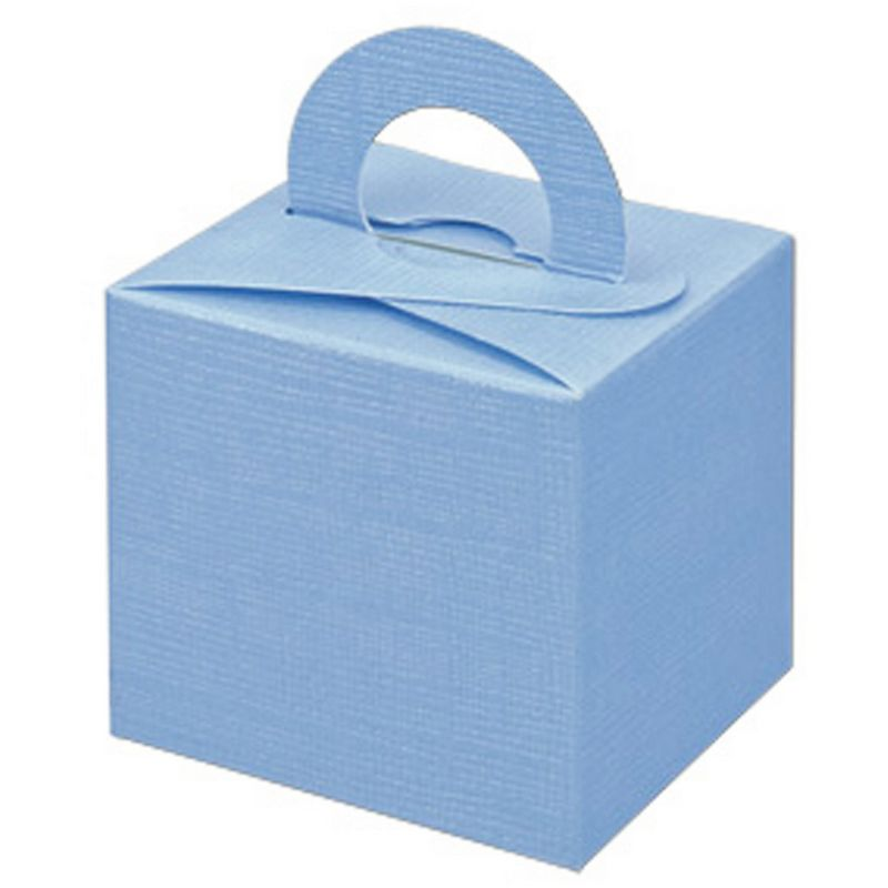 Image of Square Gift Box With Carry Handle (Pack Of 10) (One Size) (Blue) - Club Green