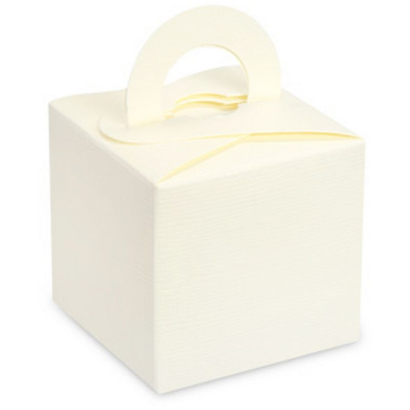 Image of Square Gift Box With Carry Handle (Pack Of 10) (One Size) (Ivory) - Club Green