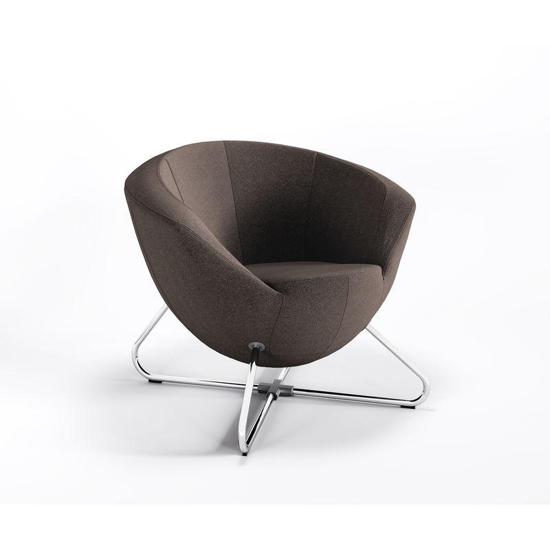 Cocktailsessel Lounge Lobby Webstrukturbezug Luna Only Sessel C:L08 - braun - Marbet Style