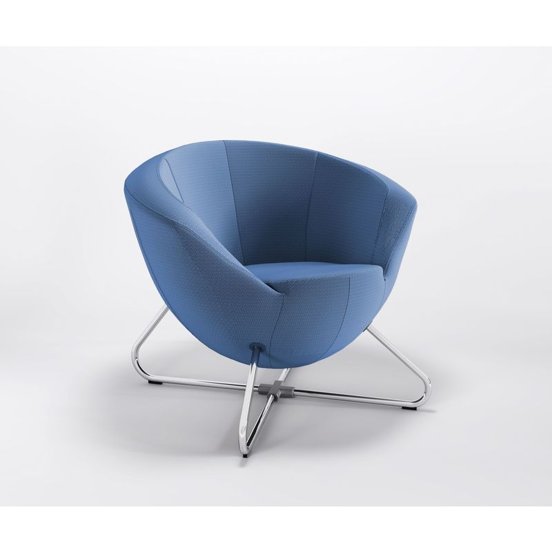 Clubsessel Lounge Bar Lobby grobe Webstruktur Queens Only Sessel C:Q27 - blau - Marbet Style