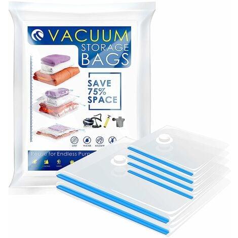 CM-557 Vacuum Bags Vacuum Storage Space Saver Bags for Clothing Bedding Blankets (6 Packs. 2 Large 4 Medium)