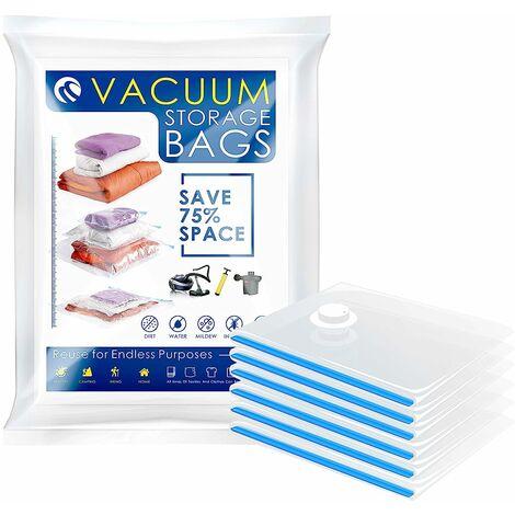 CM-564 Vacuum Bags Vacuum Storage Space Saver Bags for Clothing Bedding Blankets (6 Packs. Medium)