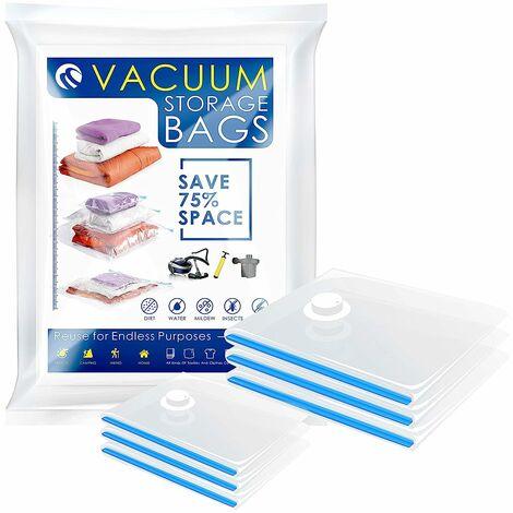 CM-571 Vacuum Bags Vacuum Storage Space Saver Bags for Clothing Bedding Blankets (6 Packs. 3 Medium 3 Small)