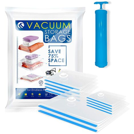 CM-595 Vacuum Bags Vacuum Storage Space Saver Bags for Clothing Bedding Blankets (10 Packs. 2 Large 4 Medium 4 Small)