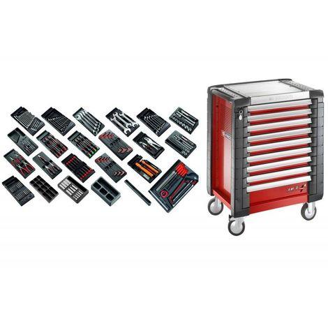 """main image of """"CM.230 Sélection tous métiers 230 outils et servante de 9 tiroirs 9 tiroirs"""""""