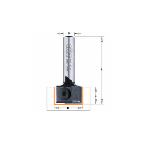 CMT : Fraise plaquette rainure 19mm défonceuse queue 8 mm