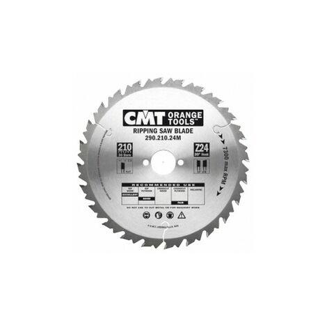 CMT : Lame circulaire carbure 250 z= 24 ep.2,8 anti-recul debit