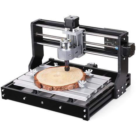 CNC3018 bricolaje CNC Router Mini kit de la maquina de grabado GRBL Control de 3 ejes para PCB de PVC de plastico acrilico de talla de madera de fresado maquina de grabado con ER11 Collet y 300x180x45mm CNC3 Desconectado Controller Area de Trabajo XYZ, 10