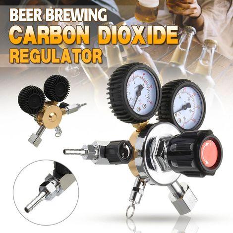 Co2 Régulateur Bière Double Jauge De Dioxyde De Carbone Barre De Soda Tirage Accueil Brew Gaz Tirant Hasaki