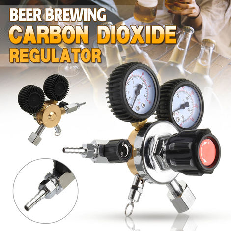 Co2 Regulator Beer Double Gauge Carbon Dioxide Soda Bar Draft Home Brew Gas Draft