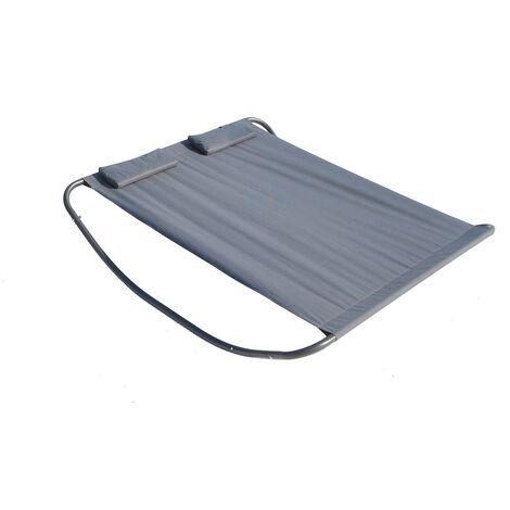 Coachella gris: cama de jardín y tumbona mecedora para 2 personas