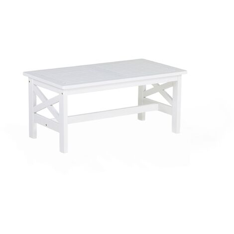 Coastal Outdoor White Garden Table Solid Wood Oiled All-Weather Baltic