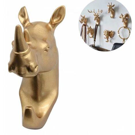 Coat rack and towel rack Wall-mounted hook Key coat rack Golden Rhino (