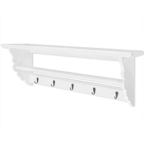 Coat Rack MDF White Baroque Style