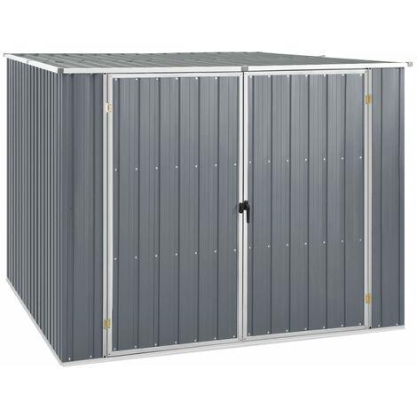 Cobertizo de jardin acero galvanizado gris 195x198x159 cm