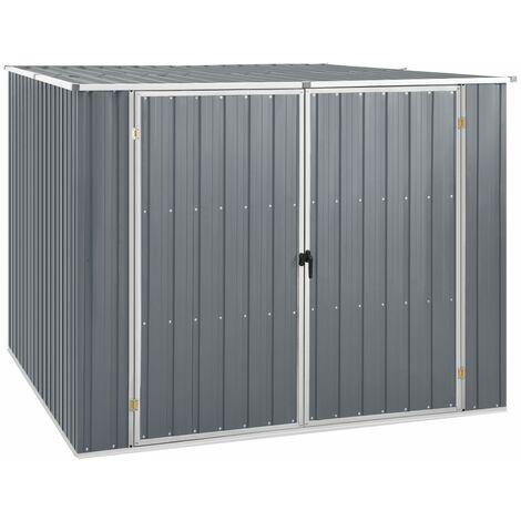 Cobertizo de jardín acero galvanizado gris 195x198x159 cm - Gris