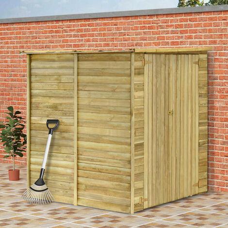 Cobertizo para jardin de madera pino impregnada 157x159x178 cm(no se puede enviar a Baleares)