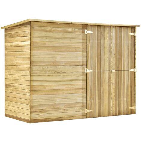 Cobertizo para jardín de madera pino impregnada 232x110x170 cm
