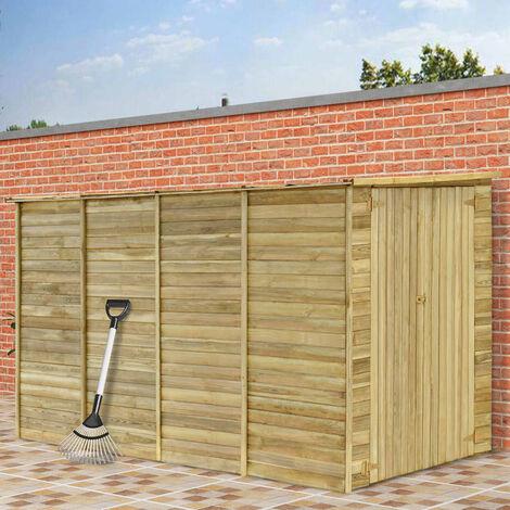 Cobertizo para jardín de madera pino impregnada 315x159x178 cm - Marrón