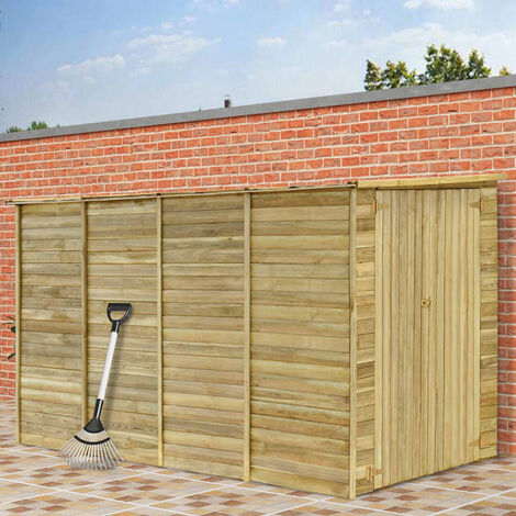 Cobertizo para jardin de madera pino impregnada 315x159x178 cm(no se puede enviar a Baleares)