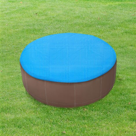 Cobertor Piscina - 457 cm - Cubierta de piscina - Cubierta Solar para Verano - Aire libre - Redonda - Polietilen - Azul
