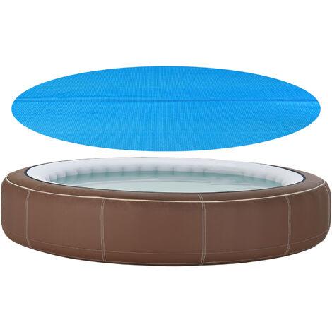 Cobertor Piscina - 488 cm - Cubierta de piscina - Cubierta Solar para Verano - Aire libre - Redonda - Polietilen - Azul