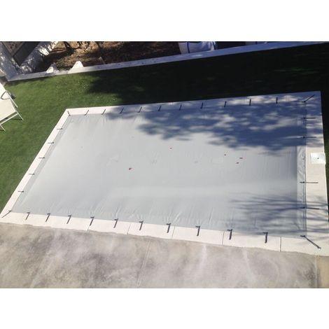 Cobertor piscina opaco para piscinas desde 5x3 metros a 12x7 metros. Cubierta de protección invernación de PVC con 650gr/m2.