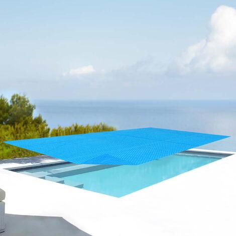 Cobertor Piscina Rectangular - 260x160 cm - Cubierta de piscina - Cubierta Solar para Verano - Aire libre - Polietilen - Azul