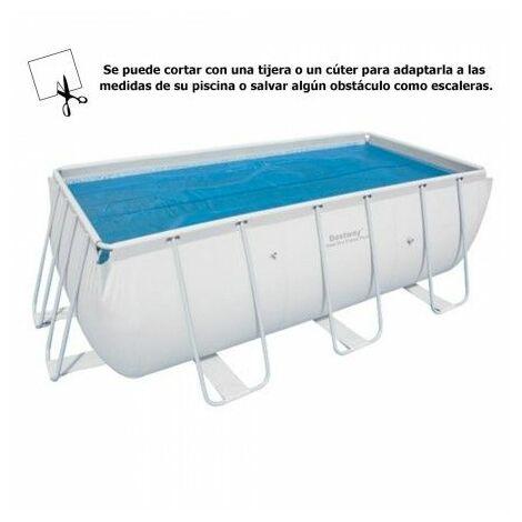 Cobertor solar para piscina rectangular 412x201cm.