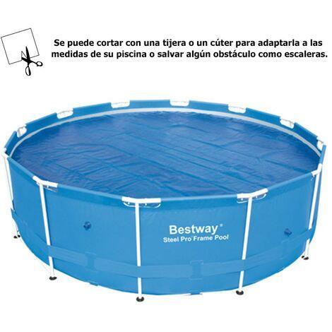 Cobertor solar para piscinas estructura metálica Ø 366 cm.