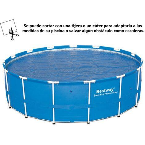 Cobertor solar para piscinas estructura metálica Ø 488 cm.