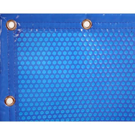 INTERNATIONAL COVER POOL Cubierta Solar 400 micras GeoBubble para Piscina 3 x 3 Metros con Refuerzo en los Anchos