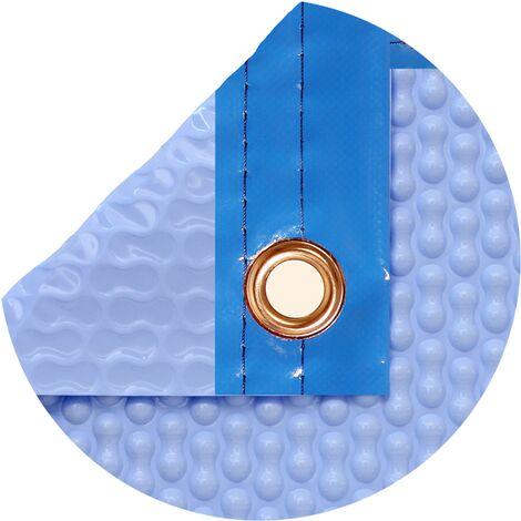 Cobertor térmico de 500 micras Geobubble Coolguard con orillo o refuerzo en todo el contorno. Nos ajustamos a las medidas de su piscina.