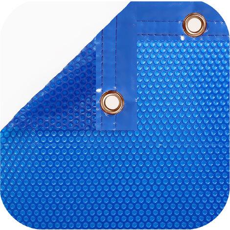 Cobertor térmico de 600 micras Económica con orillo o refuerzo en todo el contorno. Nos ajustamos a las medidas de su piscina.