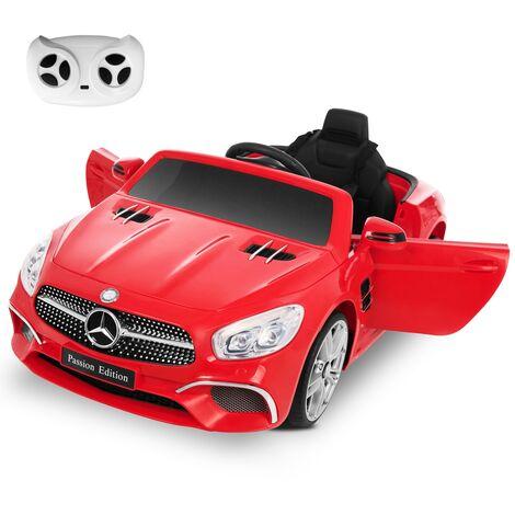 Coche bateria 12V niños 3-8 años Mercedes Benz SL400 rojo mando control remoto