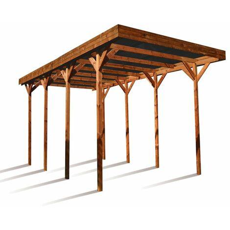Cochera tejado policarbonato Camping Car